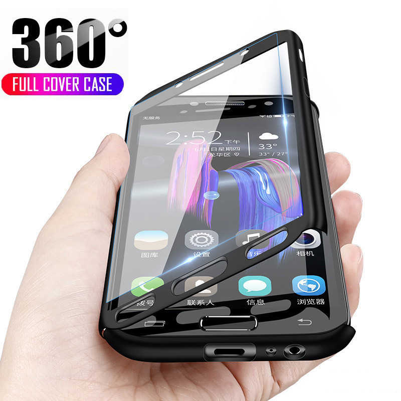 360 Full Body Phone Case For Samsung Galaxy A6 A8 A7 J4 J6 Plus 2018 Case for Samsung A3 A5 J3 J5 J7 2016 2017 Cases with Glass