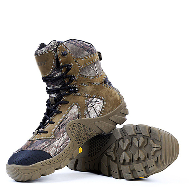 popular style excellent quality later High top Military Tactical Combat Boots Non slip Wear Resistant EVA Rubber  Leather Nylon Stitching Camouflage Hunting Shoes-in Safety Shoe Boots from  ...