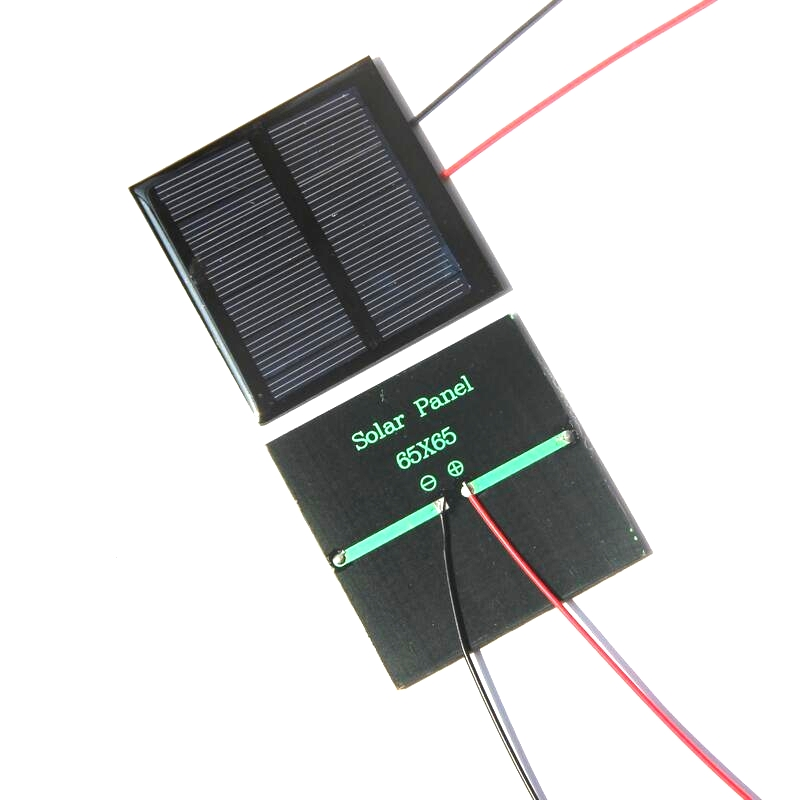 Buheshui Смола солнечных панелей 5.5 В 0.6 Вт Мини солнечных батарей 65x65 мм для небольших Мощность applianc игрушка panle + 15 см кабель 20 шт./лот оптовая про...