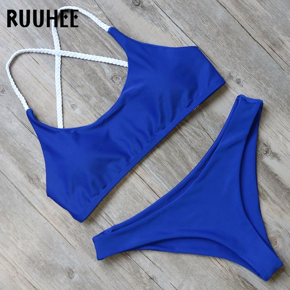 RUUHEE Bikini Swimwear Women Swimsuit Bathing Suit Push Up Bikini Set 2017 Sexy Female Beachwear Biquini Swimming Suit For Women ruuhee one piece swimsuit swimwear bodysuit bikini set women black