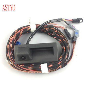 ASTYO Car MQB MIB reversing video camera rear view camera With motion track For VW Tiguan 2017 Touran 2017 SUPERB 2016+ Octavia