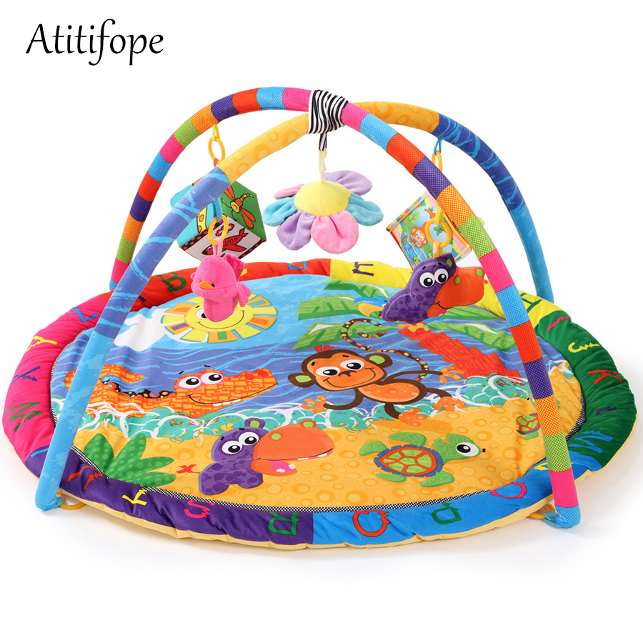 Multi-Function Baby Activity Gym Mat Baby Gyms Playmats Cartoon Turtle Children Non Olet Gym Mat Interesting Crawling Blanket
