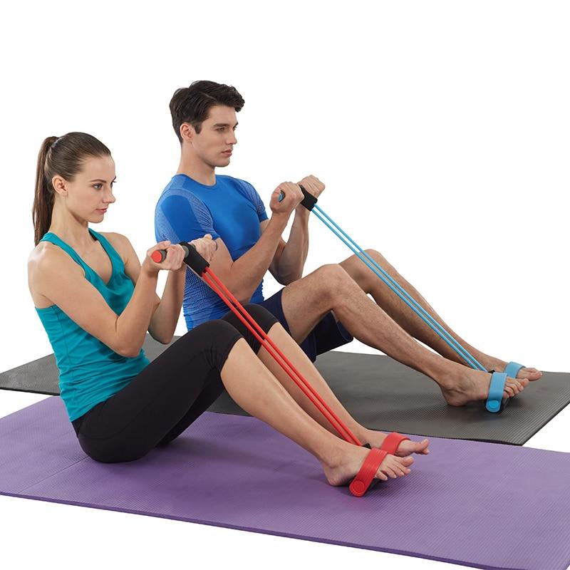 Sit-ups fitness udstyr energibesparende tynd talje hjem sportspedal pull reb strammer Vægremskive spring exerciser