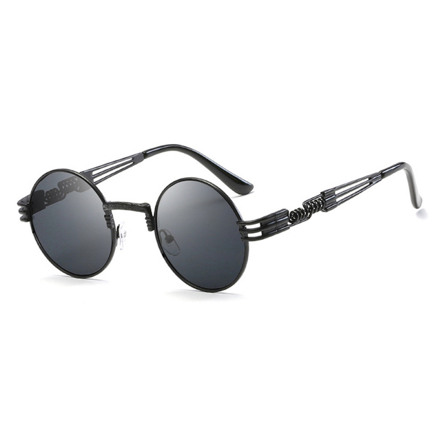 TSHING RAY Brand New Metal Sunglasses Men Women Round Sunglass Steampunk Coating Glasses Vintage Circle Eyewear Male For Driving
