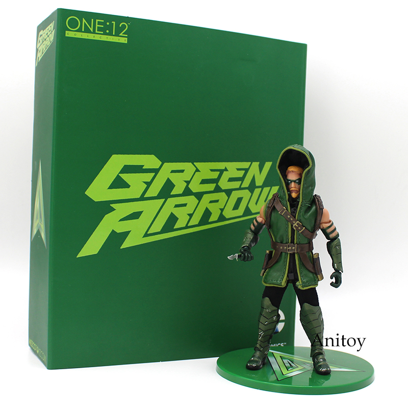 MEZCO DC COMICS Green Arrow 1/12 Scale PVC Action Figure Collectible Model Toy 17cm hot toy juguetes 7 oliver jonas queen green arrow superheros joints doll action figure collectible pvc model toy for gifts