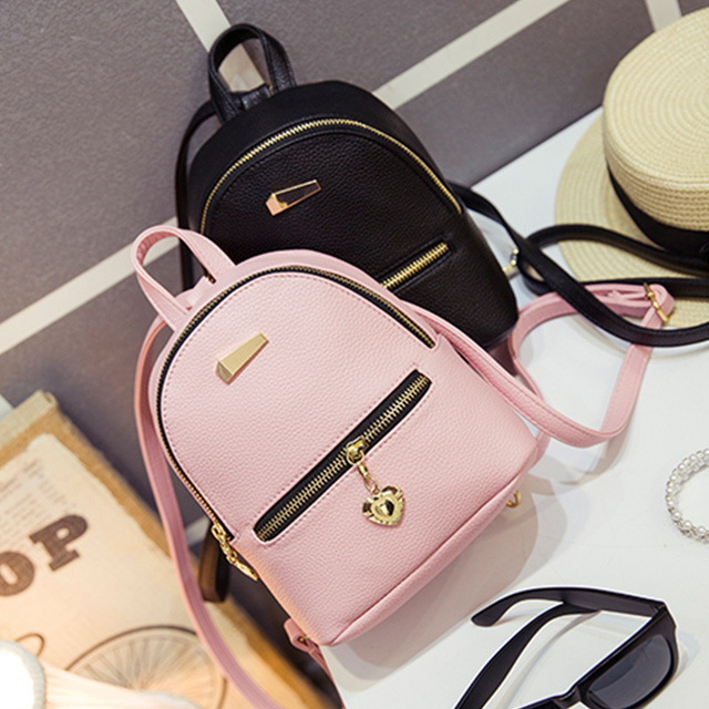 LEFTSIDE 2016 new shoulder bag mini backpacks women leather school bag women's Casual style backpack purses bags for teenagers