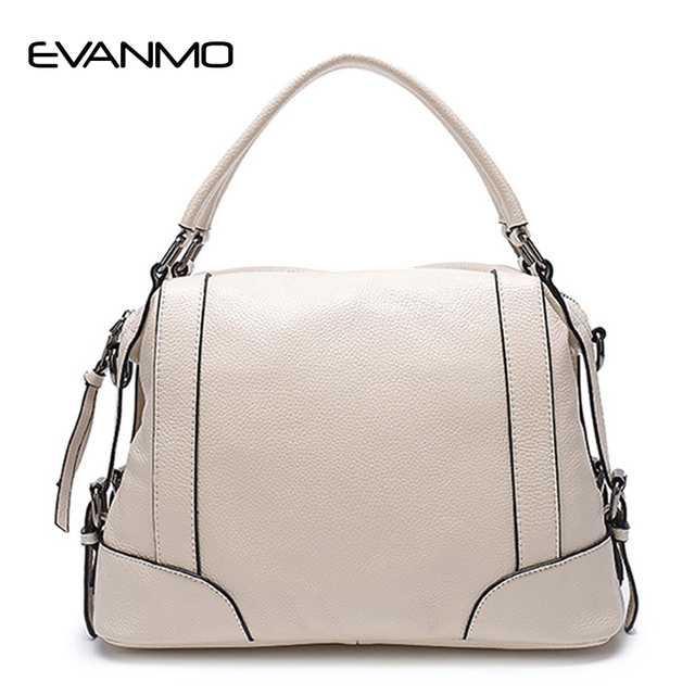 Cow Genuine Leather Women S Handbags Tote First Layer For Female Double Handle Messenger Bags Bowling Shoulder