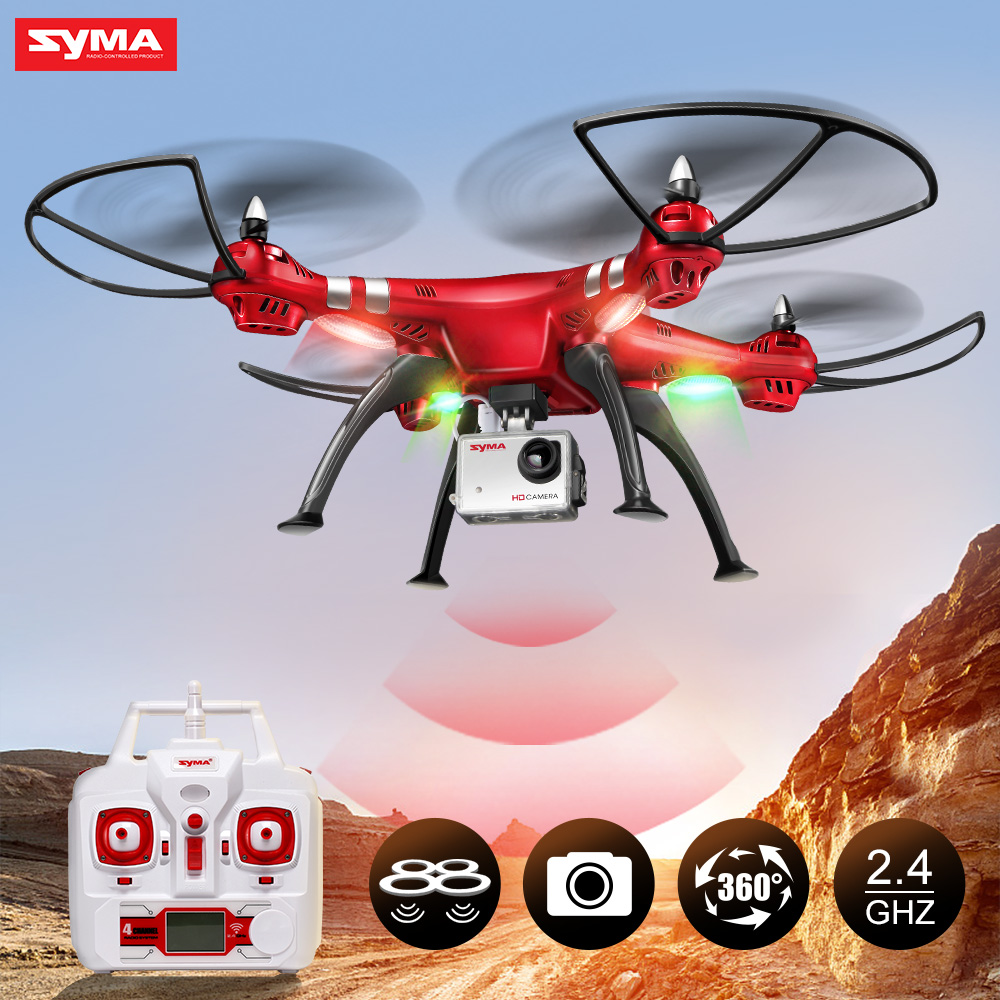 Professional UAV Syma X8HG (X8G Upgrade) 2.4G 4CH 6-Axis Gyroscope RC Helicopter Quadcopter Drone 1080P 8MP HD Camera-Red игрушка syma s39g red