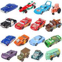 Disney Pixar-coches de juguete de Cars 2 3, Rayo McQueen, Mater Jackson, Storm Ramirez, 1:55, vehículo fundido a presión, de aleación de Metal para chico, juguetes para regalo de Navidad