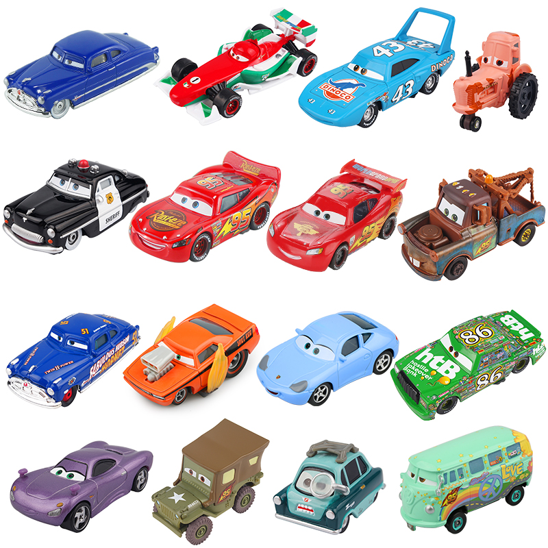 Disney Pixar Cars 2 3 Lightning McQueen Mater Jackson Storm Ramirez 1:55 Diecast Vehicle Metal Alloy Boy Kid Toys Christmas Gift