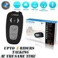 Versão atualizada!! Para 4 cavaleiro juntos!!! 1500 M BT Interphone Do Bluetooth Fones de ouvido do Capacete Da Motocicleta capacete interfone com Rádio FM