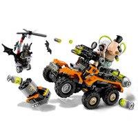 HOT Batman Series Bane Toxic Truck Attack Building Blocks Bricks Set Movie Model Kids Figures Toys