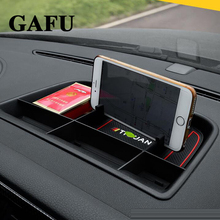 Car accessories Front Central Console Dashboard Storage box Holder For vw tiguan mk1 2011 2012 2013 2014 2015 2016 цена