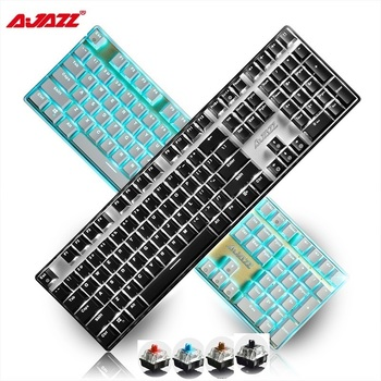 Ajazz AK33i 108 Key USB Wired Backlit Mechanical Office/Gaming Keyboard Black,Blue ,Brown,Red Axis White /Blue Backlight