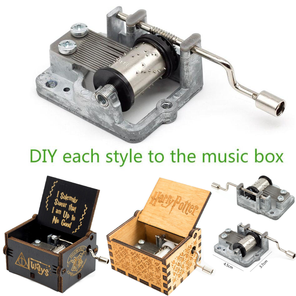 30Pcs 18 Tones Mechanical Music Box DIY Music Box Movement Play Hand Crank Harry Potter Game of Thrones Music Box Caskets