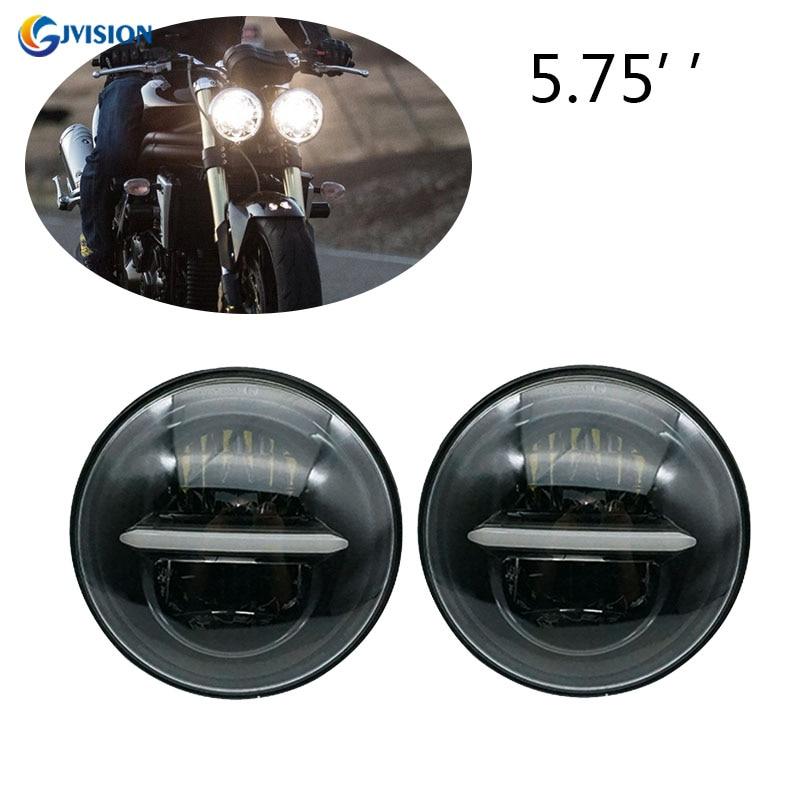 2pcs 5.75 Inch Led Headlights For Triumph Rocket Iii 3 & Speed Triple & Street Triple & Thunderbird 5 3/4'' Headlamp