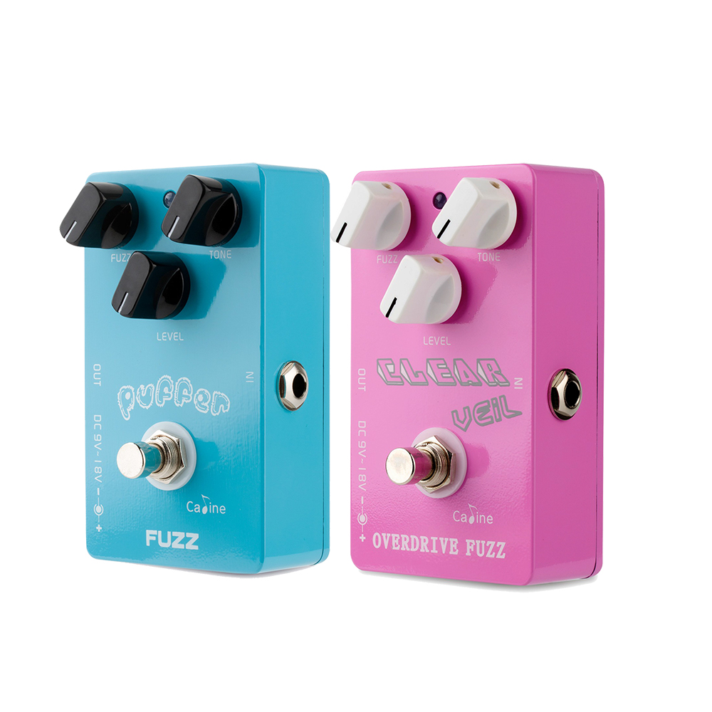 Caline CP-11 Puffer FUZZ Guitar Effect Pedal And Caline CP-32 Overdrive Fuzz Guitar Effet Pedal caline cp 15 heavy metal guitar pedals 3 band powerful adjustable electronic heavy metal guitar effect pedal