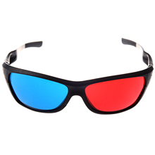 EDT Red blue Cyan Anaglyph Simple Style 3D Glasses 3D movie game Extra Upgrade