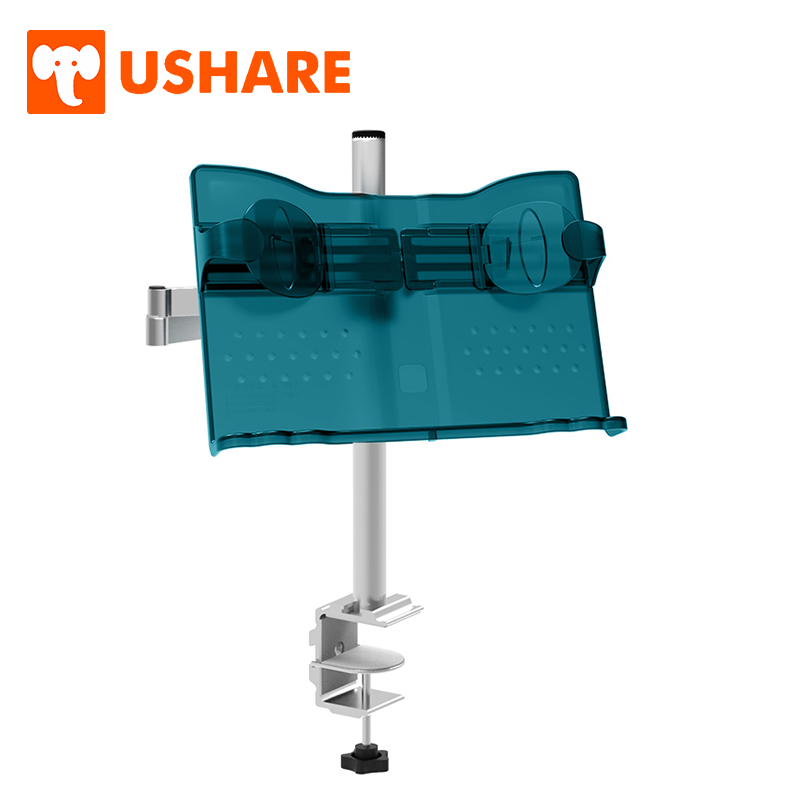 USHARE Book Holder 360 Degree Adjustable Portable Book Stand Aluminum Alloy Home Office Supplies For Cookbook Music Score Stand