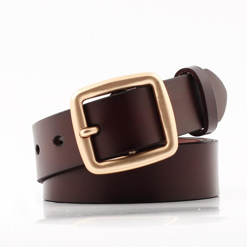 Badinka 2018 New Designer Wide Black White Red 100% Genuine Leather Belt Female Square Gold Buckle Waist Belts for Women Jeans