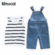 Kimocat/комплект одежды для мальчиков 2 шт футболка + джинсы