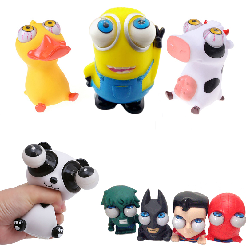 1 Piece Cartoon Animal Squeeze Antistress Toy Pop Out Eyes Doll Stress Relief Batman The Toy Avengers Minions Figure1 Piece Cartoon Animal Squeeze Antistress Toy Pop Out Eyes Doll Stress Relief Batman The Toy Avengers Minions Figure