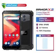 Ulefone Armor X2 IP68 водонепроницаемый мобильный телефон Android 8,1 5,5 «HD четырехъядерный 2 ГБ + 16 Гб NFC Face ID 5500 мАч смартфон