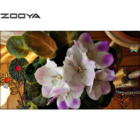 New Style Diamond Painting Flower Cross Stitch Resin Stone Pasted Painting Square Drill Needlework Painting Free