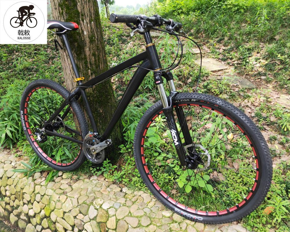 Велосипед Kalosse с гидравлическим тормозом, 29er 29*17 дюймов, велосипед для езды по бездорожью, 27 скоростей