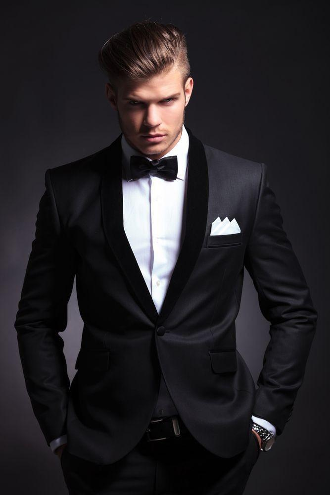 FOLOBE costume homme Custom Made Handsome Black Men Slim Fits ...