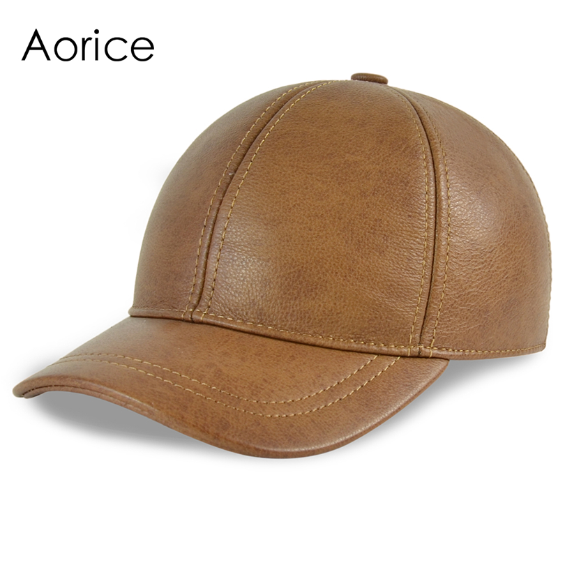 HL130 Men's genuine leather baseball cap hat brand new style spring warm trucker driving hunting  caps hats fashion sheepskin cadet for man genuine leather mens baret cowhide flat cap cabby hat vintage newsboy ivy driving cap