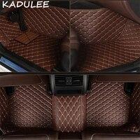 KADULEE PU leather car floor mats for Bmw 3 series E30_E36_E46_E90_E91_E92_E93_F30 2000 2018 Custom foot automobile carpet cover