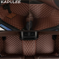 KADULEE PU leather car floor mats for Bmw 3 series E30_E36_E46_E90_E91_E92_E93_F30 2000 2018 Custom foot automobile carpet cover