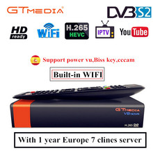 Buy Gtmedia v8 nova DVB-S2 FTA Satellite Receiver Freesat v8 with Europe Cccam 7 lines for 1 year Support H.265 Built-in WiFi free directly from merchant!