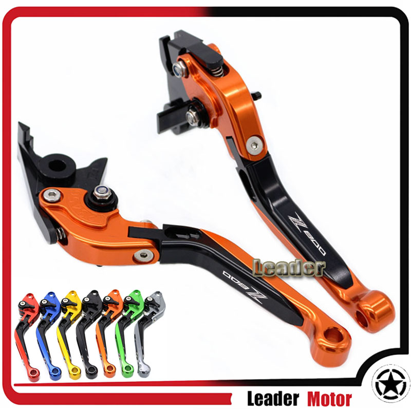 ФОТО For KAWASAKI Z800 Z800E Version 2013-2016 Motorcycle Accessories Folding Extendable Brake Clutch Levers Orange