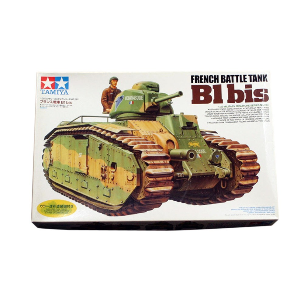 OHS Tamiya 35282 1/35 French Battle Tank B1 bis Military AFV Assembly Model Building Kits ohs tamiya 35326 1 35 u s main battle tank m1a2 sep abrams tusk ii military assembly afv model building kits
