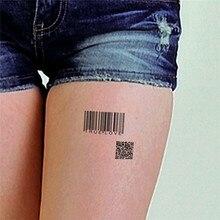 HC1077 Women Sexy Wrist Chest Fake Tattoo Stickers Fresh Stripe Barcode Body Art Removable Waterproof Temporary Tattoo