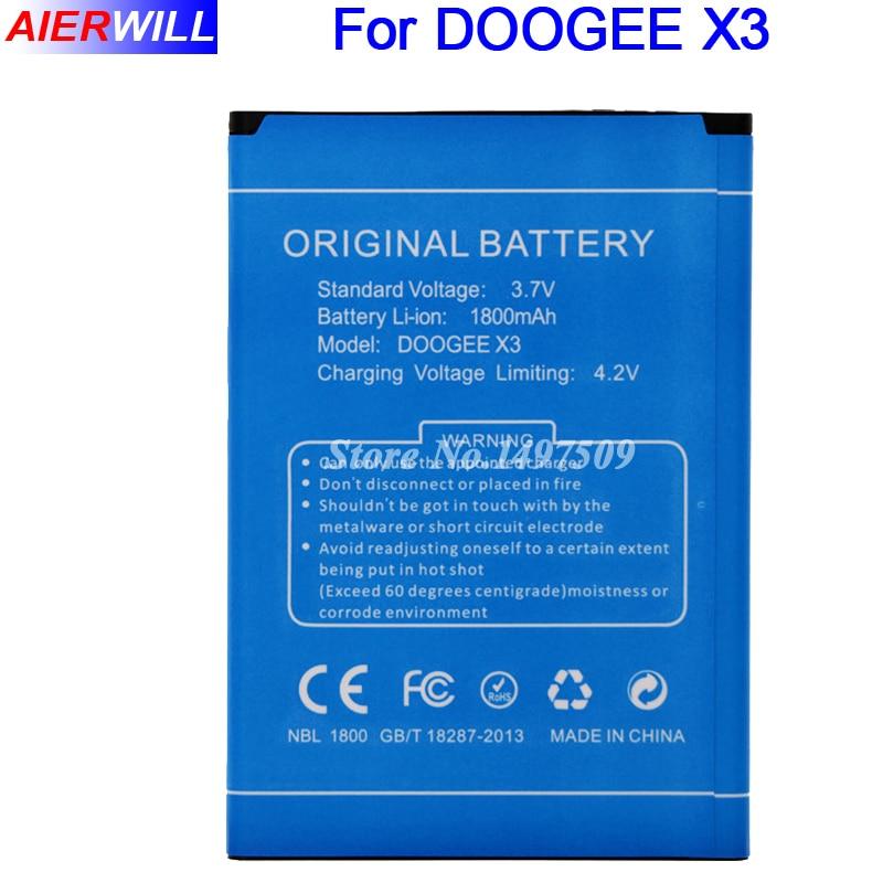 1800 mAh Batterie pour DOOGEE X3 Batterie Bateria Accumulateur AKKU