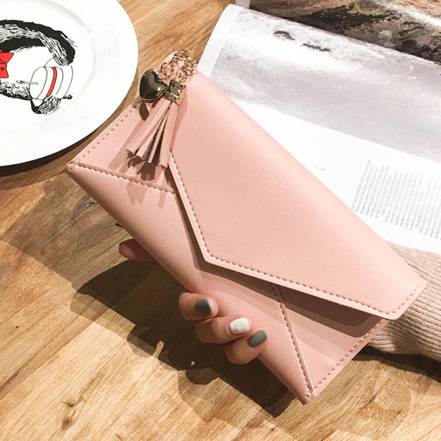 Long Wallet Women Purses Tassel Fashion Coin Purse Card Holder Wallets Female Clutch Money Bag PU Leather Wallet#zsa