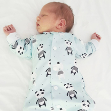 цена на TinyPeople Baby Rompers Panda Print Cotton onesie Newborn Boys Romper Girls Clothes Infant Baby Clothing Long Sleeve Jumpsuit