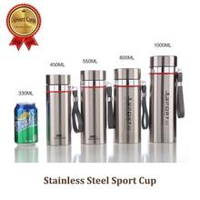Pro Qualität Edelstahl Sport Sport Tasse Vakuum Flasche Besten Kaffee Ware 1000 ML Tee Container KOSTENLOSER Versand!!!