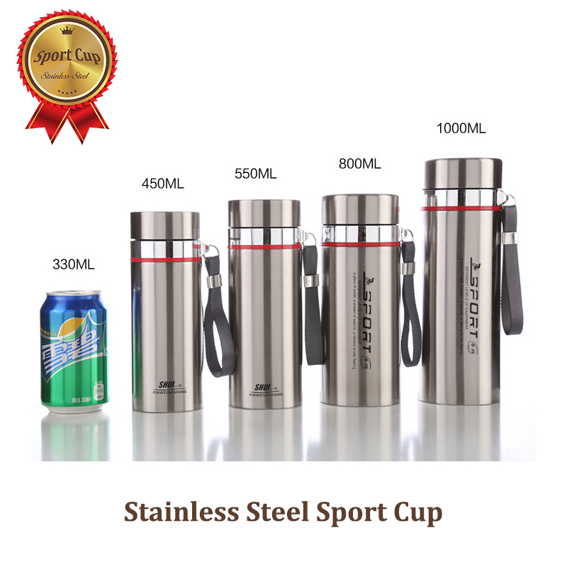 Superior 1000ml Thermos Vacuum Insulated Water Bottle Stainless Steel Mug Clic In Flasks Thermoses