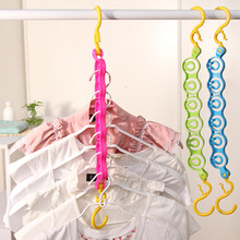 1pcs Practical Six Location Clotheshorse Drying Rack Magic of Hanger Clothes-horse Hanging Clothes Rack Home Cleaning Products