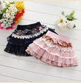 NEW Baby Girl Skirt Spring Autumn Fashion Lace Flower Cotton Bow Casual Mini Skirt Girls Tutu Skirt Fashion Kids Clothing