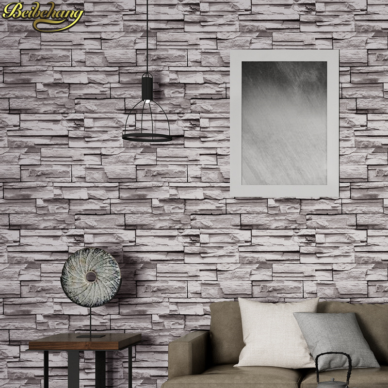 beibehang Chinese brick Wall Paper Roll gray wallpaper for walls 3 d Bar Restaurant Coffee Shop Bedroom papel de parede 3d para wallpaper for walls 3 d modern trdimensional geometry 4d tv background wall paper roll silver gray wallpapers for living room