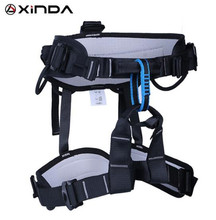 XINDA Camping Outdoor Hiking Rock Climbing Half Body Waist Support Safety Belt Harness Aerial Equipment