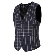 2016 Mens Waistcoat Vest Autumn Men Slim Shirt Vest For Suit Tuxedo 5 Buttons Male V-neck Luxury Jacket Casual Tank Tops VS02