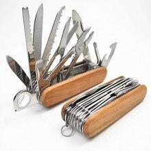 Швейцарский нож из нержавеющей стали, походный Армейский Складной нож для выживания, портативный походный многофункциональный инструмент, Карманные охотничьи ножи