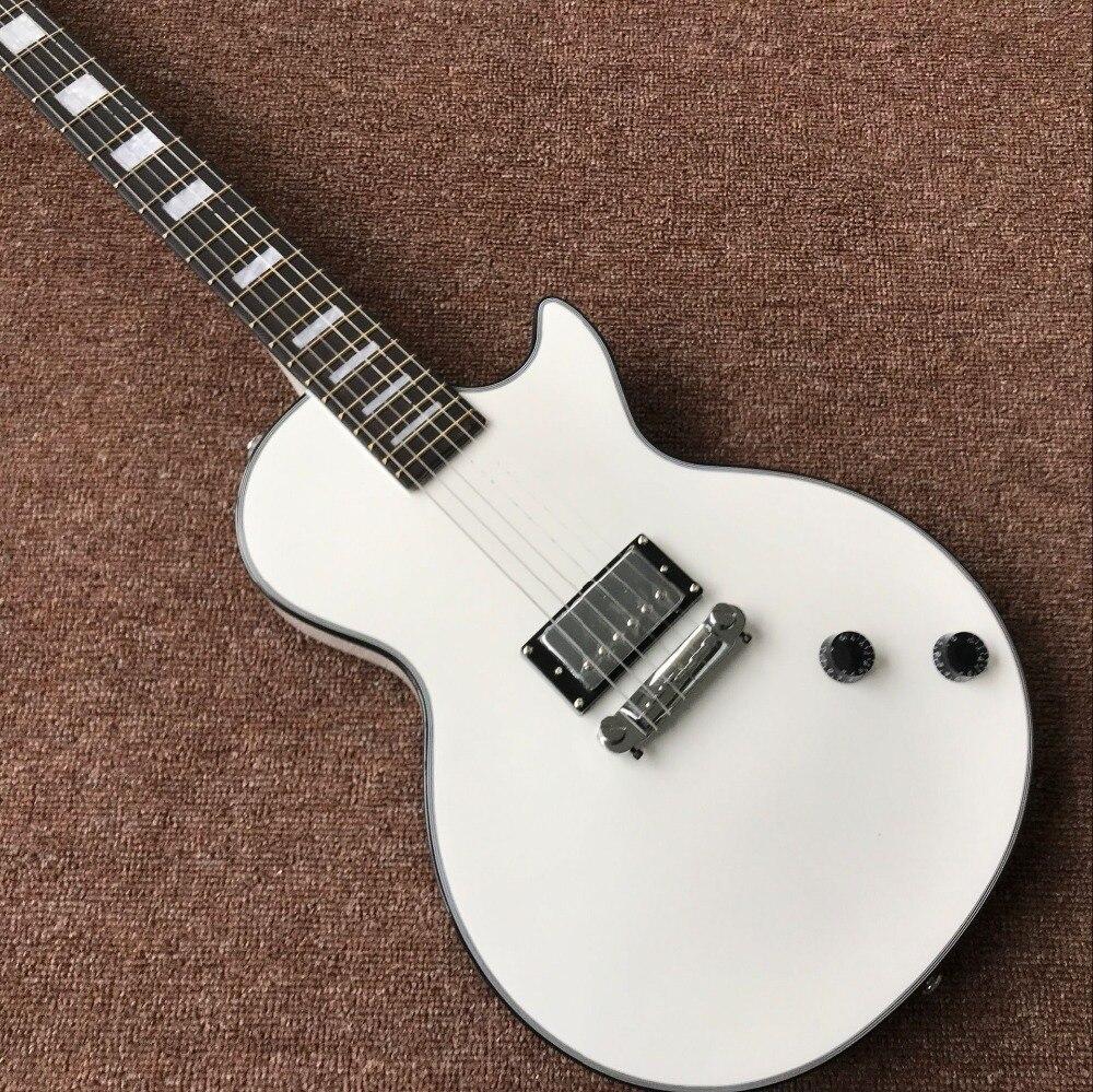 custom shop.white color electric guitar. standard custom gitaar. 1 pickup handwork 6 Strings guitarra.musical instruments.