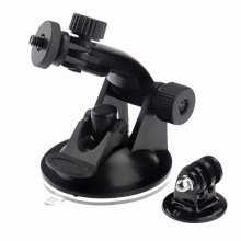 цена на Powerful Suction Cup Rotating Car Holder Tripod Mount Adapter for Gopro Hero 4 3 + 3 SJCAM Xiaomi yi Gopro Accessories